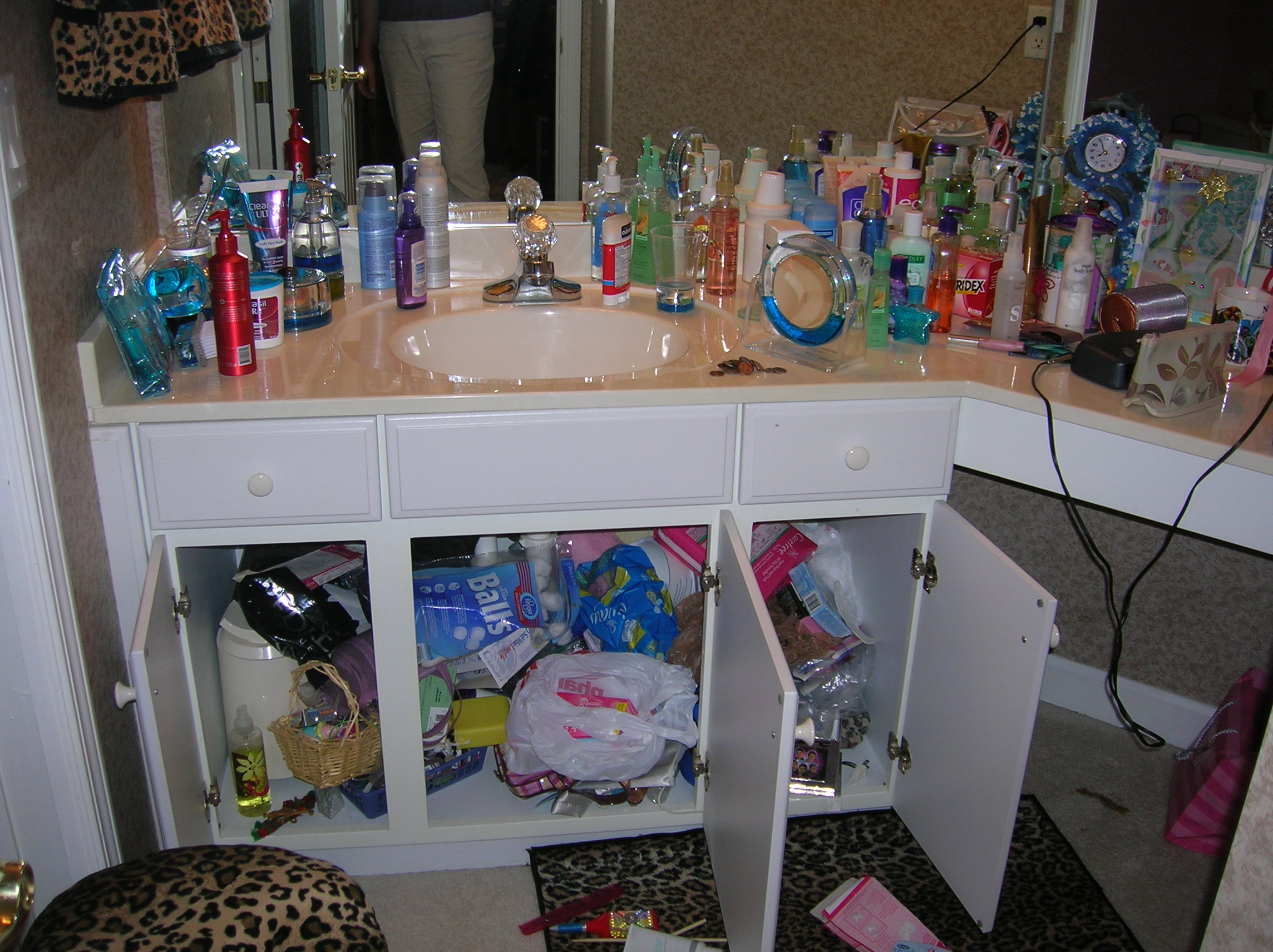 Bathroom cabinet organizers - Before Bathroom Cabinet Organize