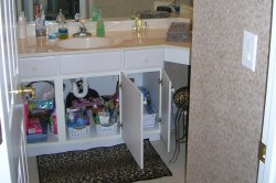 AFTER Bathroom Cabinet Organize